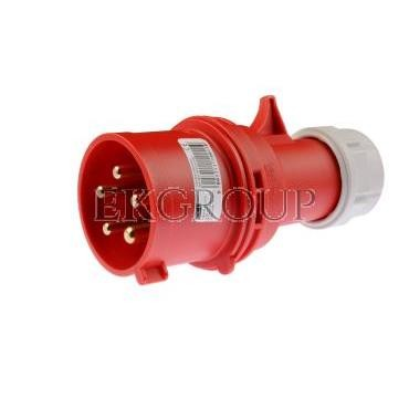 Wtyczka przenośna 32A 5P 400V czerwona IP44 SHARK 025-6-174027