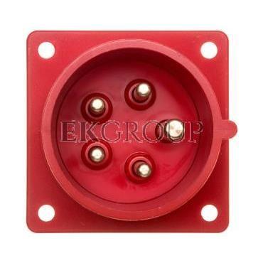 Wtyczka tablicowa 16A 5P 400V czerwona IP44 615-6-174442