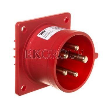 Wtyczka tablicowa 16A 5P 400V czerwona IP44 615-6-174443