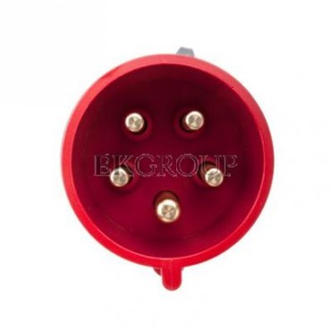 Wtyczka przenośna 32A 5P 400V czerwona IP44 TURBO SHARK 025-6TT-174093