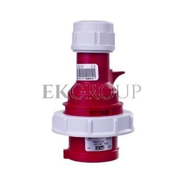 Wtyczka przenośna 16A 4P 400V czerwona IP67 SHARK 0142-6-174101