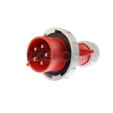 Wtyczka przenośna 32A 5P 400V czerwona IP67 SHARK 0252-6-174033