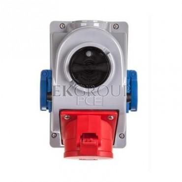 Gniazdo stałe z wyłącznikiem 0-1 32A 5P 400V   2x2P Z 230V IP44 COMBO-POL 96062542W-174943