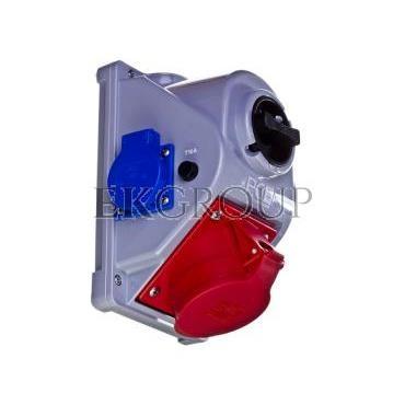 Gniazdo stałe z wyłącznikiem 0-1 32A 5P 400V   2x2P Z 230V IP44 COMBO-POL 96062542W-174944