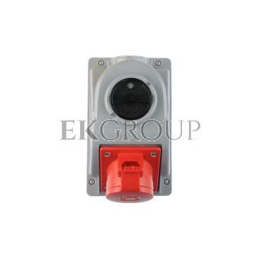 Gniazdo stałe z wyłącznikiem 0-1 16A 5P 400V IP44 COMBO-POL 96061540W-174870