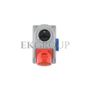 Gniazdo stałe z wyłącznikiem 0-1 32A 5P 400V   2P Z 230V IP44 COMBO-POL 96062541W-174879