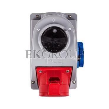 Gniazdo stałe z wyłącznikiem L-0-P 32A 5P 400V   2P Z 230V IP44 COMBO-POL 960625411W-174885