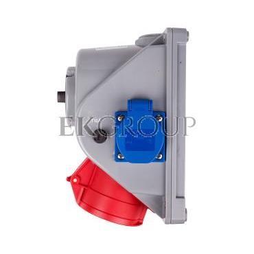 Gniazdo stałe z wyłącznikiem L-0-P 32A 5P 400V   2P Z 230V IP44 COMBO-POL 960625411W-174886