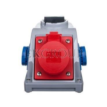 Gniazdo stałe z wyłącznikiem 0-1 16A 5P 400V   2x 2P Z 230V IP44 COMBO-POL 96061542W-174969