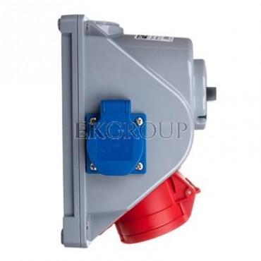 Gniazdo stałe z wyłącznikiem 0-1 16A 5P 400V   2x 2P Z 230V IP44 COMBO-POL 96061542W-174970