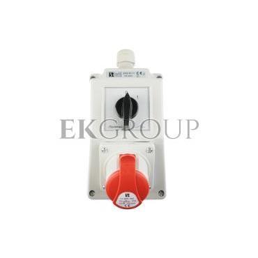 Zestaw instalacyjny z gniazdem 16A 4P (0-1) czerwony ZI02\R111-174894