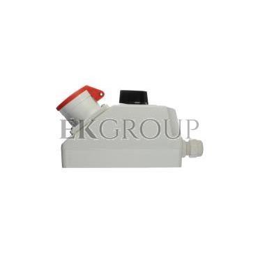 Zestaw instalacyjny z gniazdem 16A 4P (L-0-P) czerwony ZI02\R121-174898