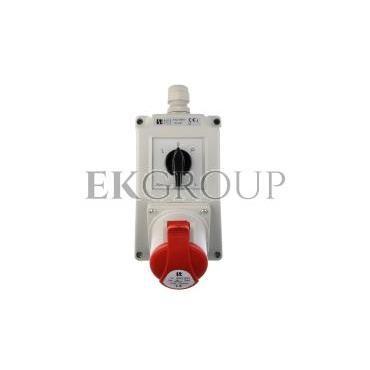Zestaw instalacyjny z gniazdem 32A 4P (L-0-P) czerwony ZI02\R361-174904