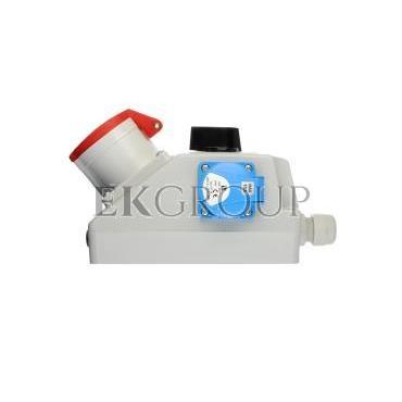 Zestaw instalacyjny z gniazdem 32A 4P 2P Z (0-1) czerwony ZI05\R341-174911