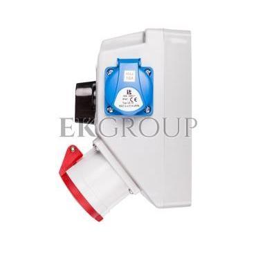 Zestaw instalacyjny z gniazdem 32A 4P 2P Z (L-0-P) czerwony ZI05\R361-174914