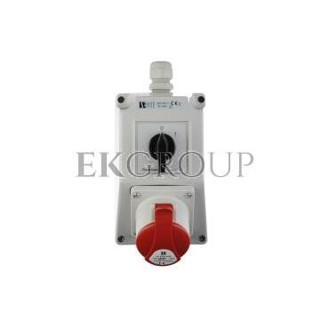 Zestaw instalacyjny z gniazdem 16A 5P (0-1) czerwony ZI02\R211-174925