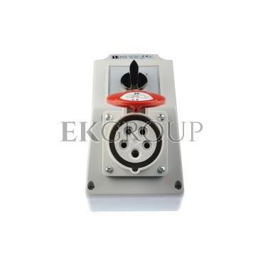Zestaw instalacyjny z gniazdem 16A 5P (0-1) czerwony ZI02\R211-174926