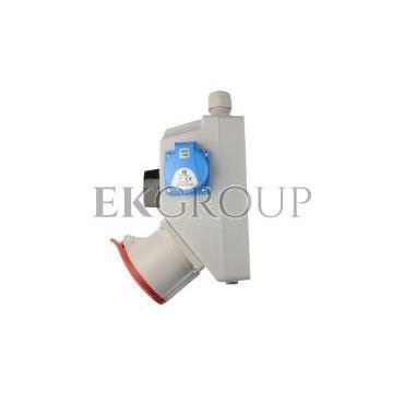 Zestaw instalacyjny z gniazdem 32A 5P 2P Z (0-1) czerwony ZI05\R441-174932