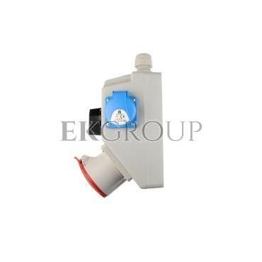 Zestaw instalacyjny z gniazdem 16A 5P 2P Z (L-0-P) czerwony ZI03\R221-174935