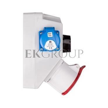 Zestaw instalacyjny z gniazdem 32A 5P 2x2P Z (0-1) czerwony ZI05\R442-174938