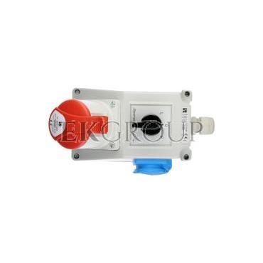 Zestaw instalacyjny z gniazdem 32A 5P 2P Z (L-0-P) czerwony ZI05\R461-174940