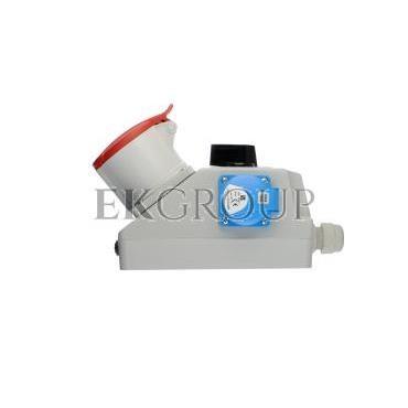 Zestaw instalacyjny z gniazdem 32A 5P 2P Z (L-0-P) czerwony ZI05\R461-174941