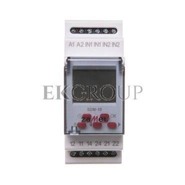 Sterwonik dzwonka szkolnego 2-modułowy 230VAC 16A SDM-10 EXT10000118-168747