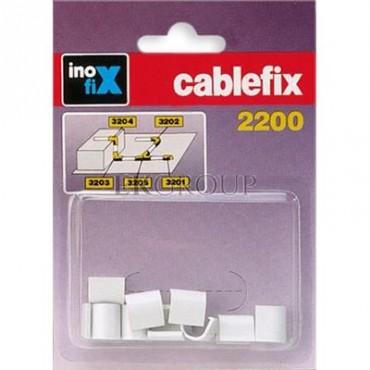 Złšączka prosta do rynienek ochronnych na kable Cablefix 2200 biała /blister 10szt./ 3201-2-179030