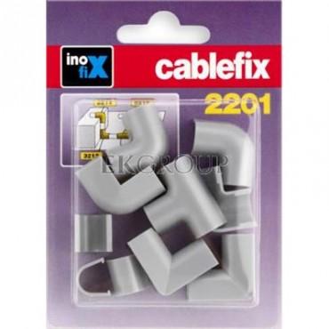 Komplet narożników i złączek do rynienek ochronnych na kable Cablefix 2201 srebrno-szary /blister 10szt./ 3210-7-179025