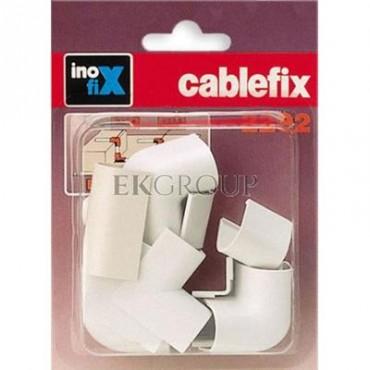 Komplet narożników i złączek do rynienek ochronnych na kable Cablefix 2202 biały /blister 10szt./ 3220-2-179028