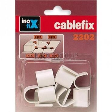 Złączka prosta do rynienek ochronnych na kable Cablefix 2202 biały /blister 10szt./ 3221-2-179029