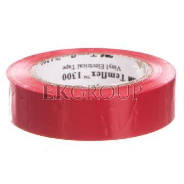 Taśma elektroizolacyjna Temflex 1300 czerwona 15mmx10m DE272962692/7000062610-178305