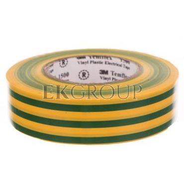 Taśma elektroizolacyjna Temflex 1500 żółto-zielona 19mmx20m DE272951133/7000062295-178317