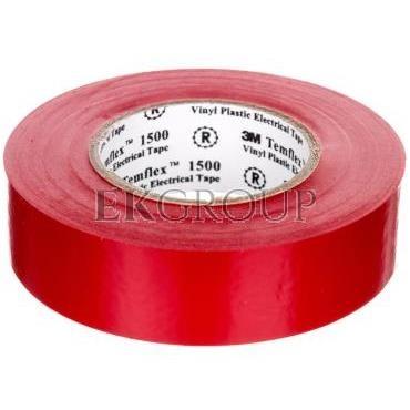 Taśma elektroizolacyjna Temflex 1500 czerwona 19mmx20m DE272951166/7000062298-178320