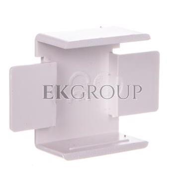Łącznik prosty do kanałów kablowych GU 20x10 biały /2szt/ ECGU2010B-178970
