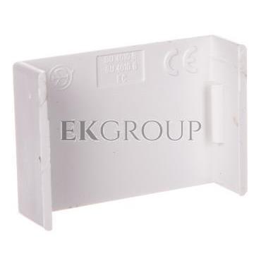 Łącznik prosty do kanałów kablowych GU 40x10 biały /2szt/ ECGU4010B-178980