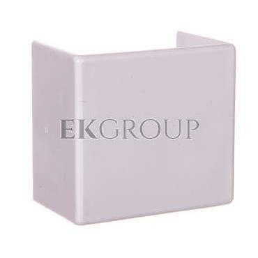 Łącznik prosty do kanałów kablowych GU 40x25 biały /2szt/ ECGU4025B-178981