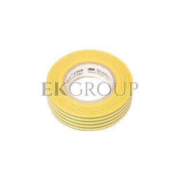 Taśma izolacyjna 19mm x 20m PVC Temflex 1500 zielono-żółta XE003411875/7000106690-178150