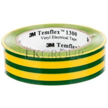 Taśma izolacyjna 15x 10m zielono-żółta PVC Temflex 1300 DE272962742/7000062615-178193