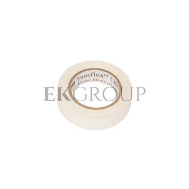 Taśma izolacyjna 15mm x 10m PVC Temflex 1300 biała DE272962726/7000062613-178176