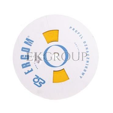 Profil PCV owalny do nadruku DPF 6,5/20 żółty E04ZP-04020400710-182920