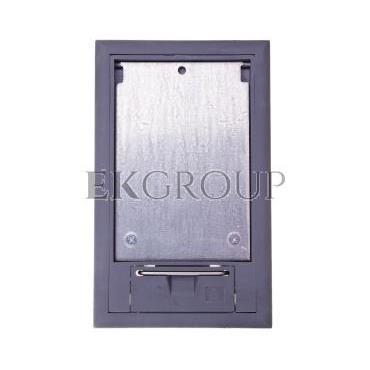 Kaseta podłogowa na osprzęt 3-modułowa szara GES2 U 7011 7405116-179969