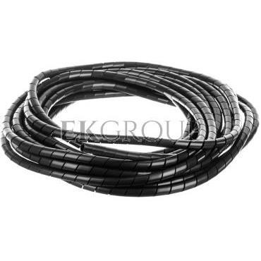 Wąż osłonowy spiralny 12/10mm czarny SP12BK /10m/-181284