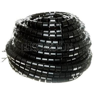 Wężyk ochronny elastyczny WE-25 czarny E01WS-01030100401 /20m/-181256