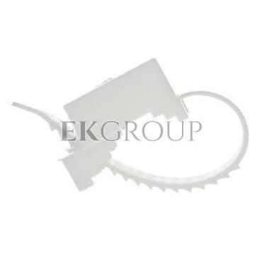 Uchwyt paskowy 9x60mm biały UP 22 12.1 /100szt./-180935