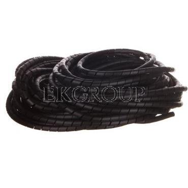 Wężyk ochronny spiralny PN 10 mm 12 mm czarny/25m/ ECPN10-181274
