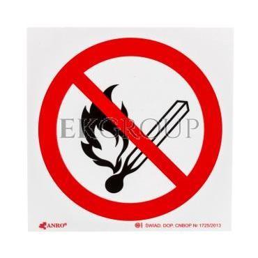 Tabliczka ostrzegawcza /Zakaz używania otwartego ognia, Palenie tytoniu zabronione 150x150/ 11P/F/FS-182866