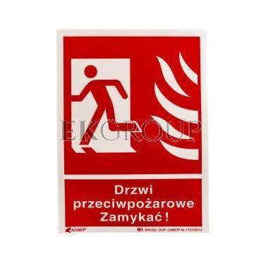 Tabliczka ostrzegawcza /Drzwi przeciwpożarowe zamykać 150x205/ 29P/F1/FS-182868