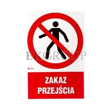 Tabliczka ostrzegawcza /Zakaz przejścia/ IP/004/1/C1/F-182873