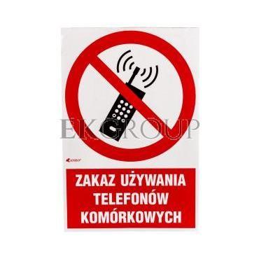 Tabliczka ostrzegawcza /Zakaz używania telefonów komórkowych 200x300/ IP/013/1/C1/F-182876